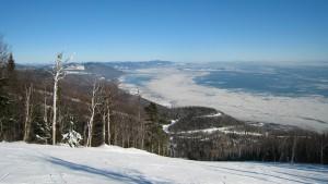 Riviere saint francois et ile aux coudes sous la neige et la glace