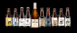Échantillon de la gamme de bières de Brasseurs du Monde