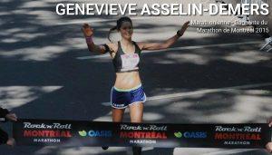 Geneviève Asselin Demers, gagnante du marathon Montréal 2015