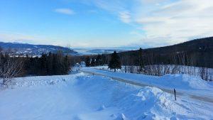 Vue sur le Saint-Laurent en hiver au Québec